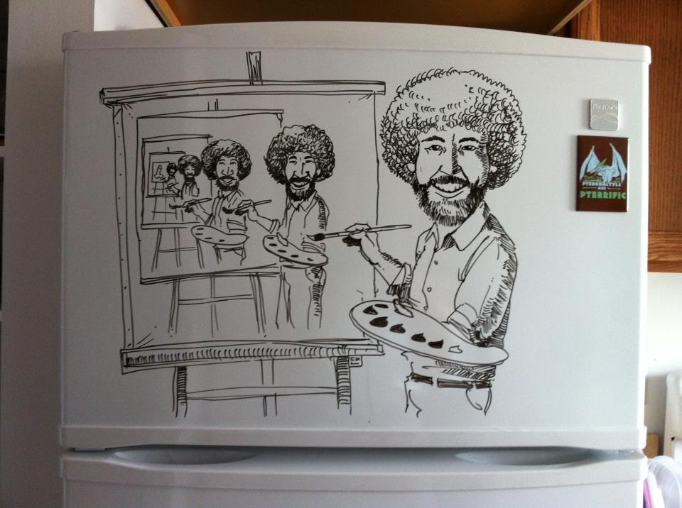 Charlie Layton y sus dibujos para el frigorífico 14