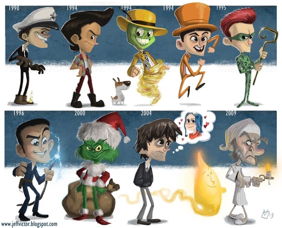 Evolución de los famosos por Jeff Victor 26