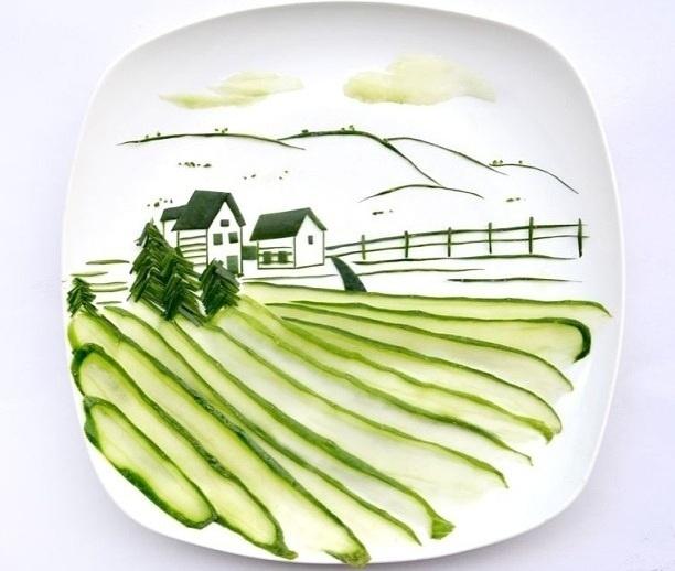 Hong Yi y sus obras de arte con comida 58