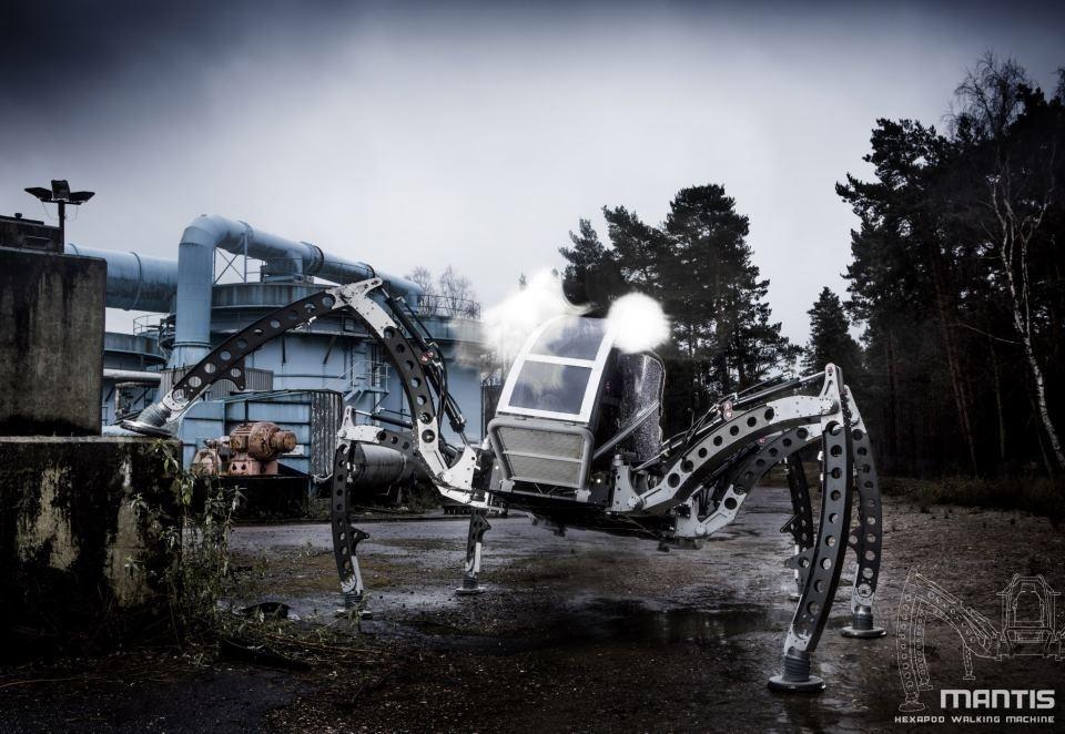 #Video Robot Mantis: Hexápodo gigante de dos toneladas 2