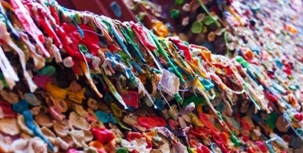 No es una obra de arte, son paredes cubiertas con chicles 2