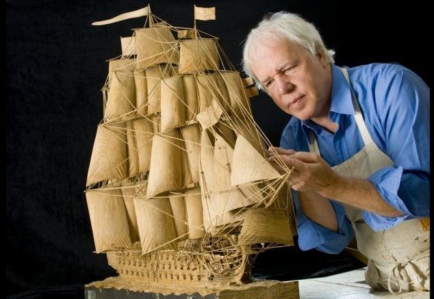5f8d07886f1f1808e8421c730397ece3 - Estubo 17 años tallando la réplica de un barco