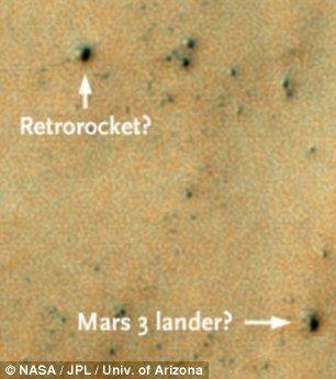 NASA muestra fotos del lugar de Marte donde habría caído nave soviética en el 71 16