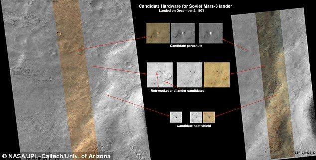 NASA muestra fotos del lugar de Marte donde habría caído nave soviética en el 71 20