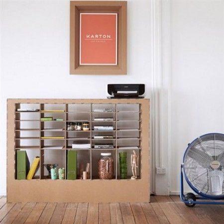 Decoración Eco Chic: Muebles hechos de cartón 16