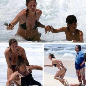 Fotos impactantes: Heidi Klum salva a su hijo y a dos niñeras de morir ahogados en Hawai 21