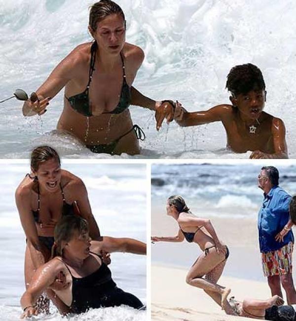 efc265b89682d199367e599a1c4a13d4 - Fotos impactantes: Heidi Klum salva a su hijo y a dos niñeras de morir ahogados en Hawai