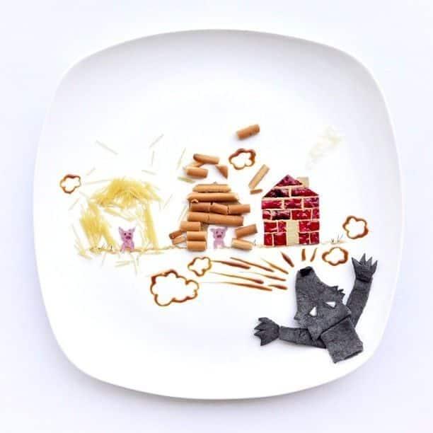 Hong Yi y sus obras de arte con comida 63
