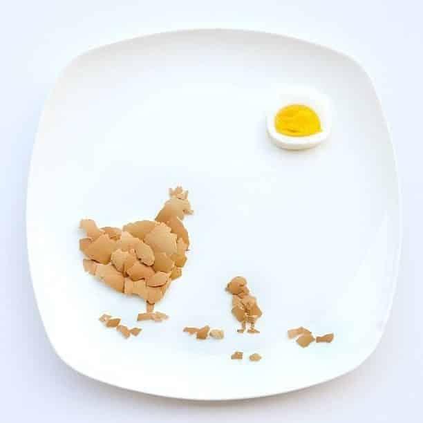 Hong Yi y sus obras de arte con comida 65