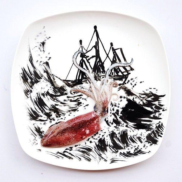 Hong Yi y sus obras de arte con comida 68