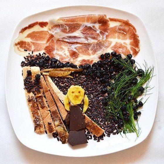 Hong Yi y sus obras de arte con comida 73