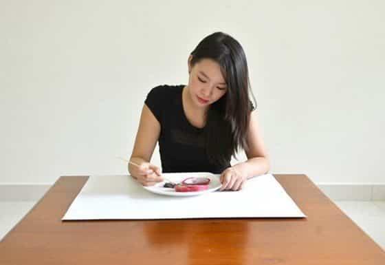 Hong Yi y sus obras de arte con comida 74