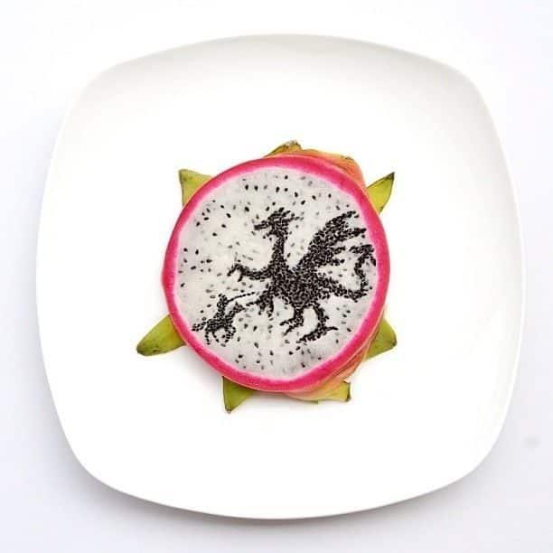 Hong Yi y sus obras de arte con comida 77