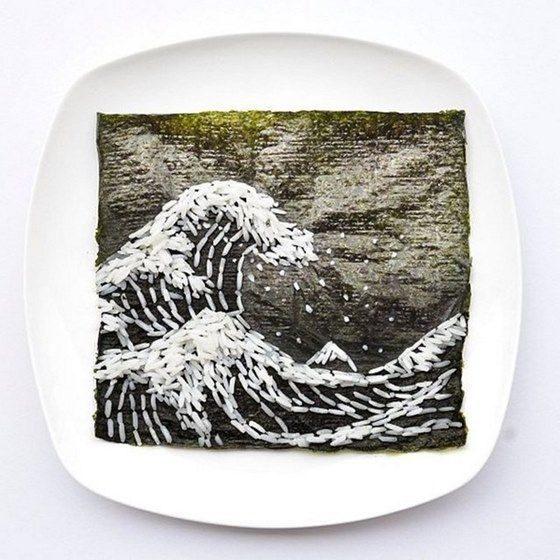 Hong Yi y sus obras de arte con comida 72