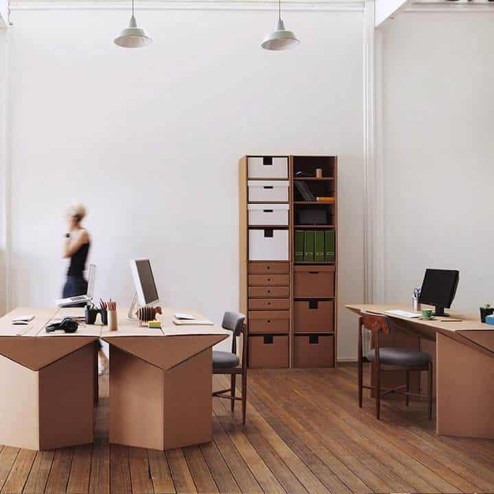 Decoración Eco Chic: Muebles hechos de cartón 18