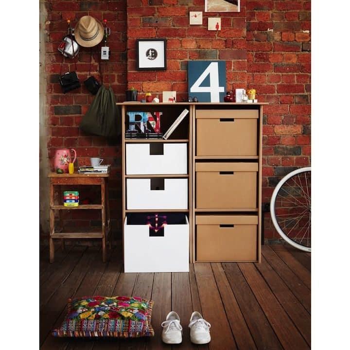 Decoración Eco Chic: Muebles hechos de cartón 23