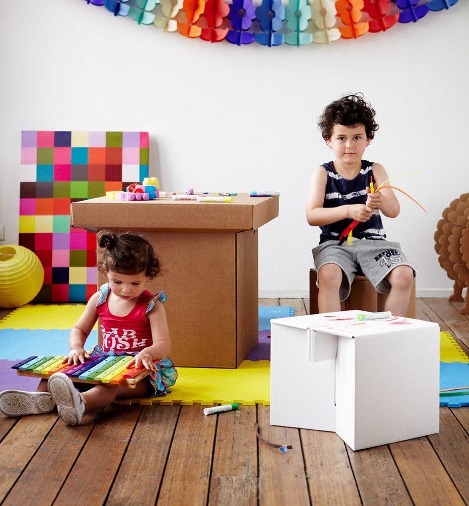 Decoración Eco Chic: Muebles hechos de cartón 28