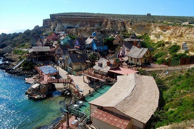 El pueblo de Popeye el Marino en Malta