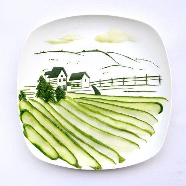 Hong Yi y sus obras de arte con comida 78