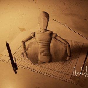Impresionantes dibujos 3D a lápiz que se salen del papel 23