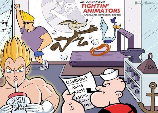 Dibujos animados en la Universidad 57