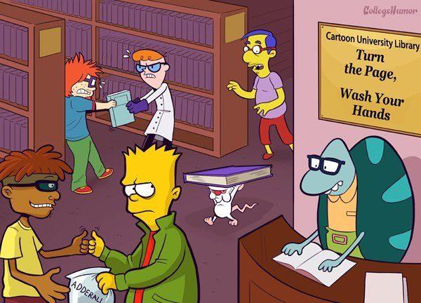 Dibujos animados en la Universidad 58