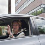 Esperanza Aguirre se da a la fuga tras arrollar la moto de un agente de Movilidad 8