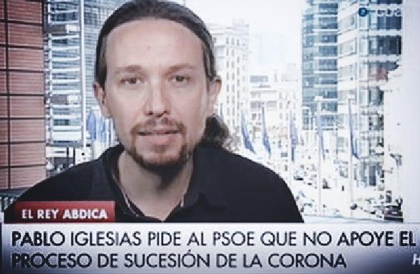 1401706596375pablo en cuatro - IU, Podemos y Equo exigen un referéndum vinculante entre Monarquía y República