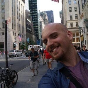 Selfie de Joaquín Calvo en New York