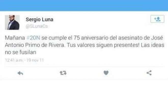 Un concejal de Ciudadanos borra su cuenta en Twitter tras haber alabado a Primo de Rivera 11