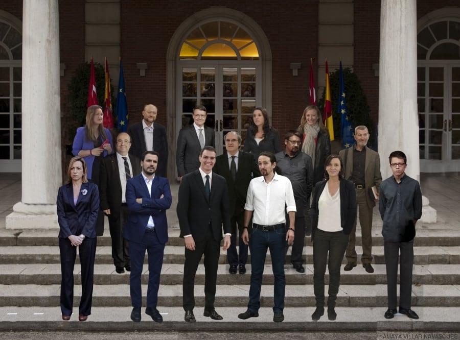 """9a008f9d4e13697a383ea4b73259cd21 - El posible """"Gobierno del cambio"""" que propone Pablo Iglesias en una foto"""