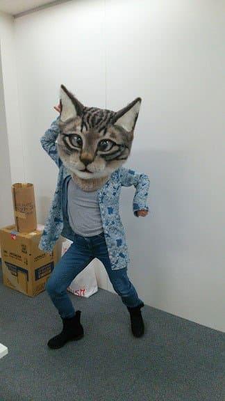 Por fin crean una máscara de la cabeza de gato gigante