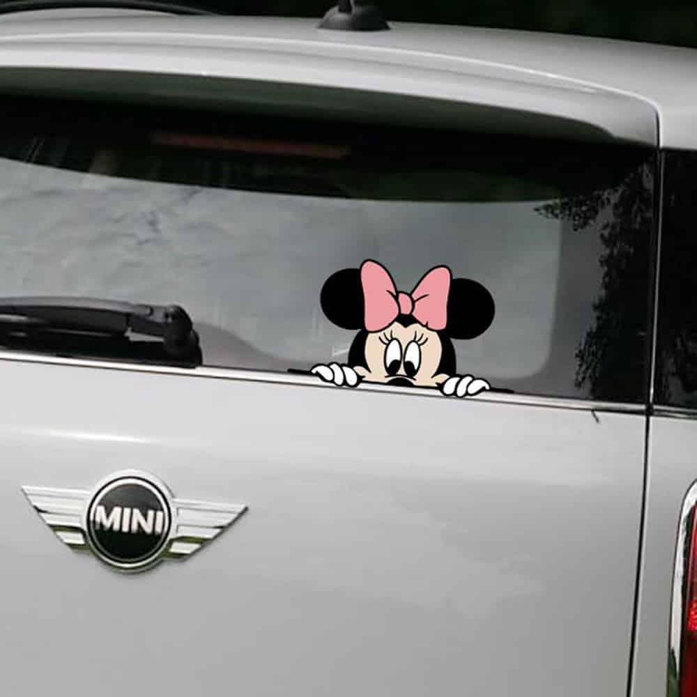 """Pegatinas para carro y coche""""Minnie Mouse"""""""