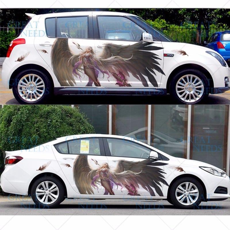"Pegatinas para carro y coche""Angel Demonio Manga"""