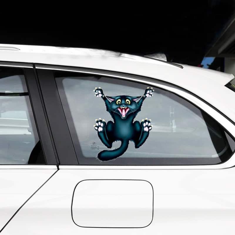 """Pegatinas para carro y coche""""Gatito Negro"""""""
