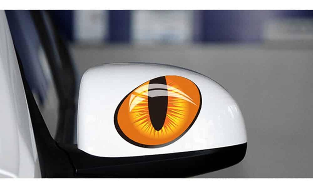 """Pegatina para coche""""ojos de gato"""""""