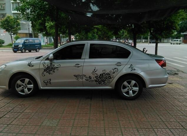 """Pegatinas para carro y coche""""Rosas y Mariposas"""""""