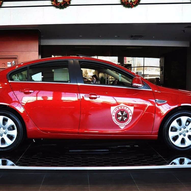 "Pegatinas para carro y coche""Umbrella Corporation de Resident Evil"""