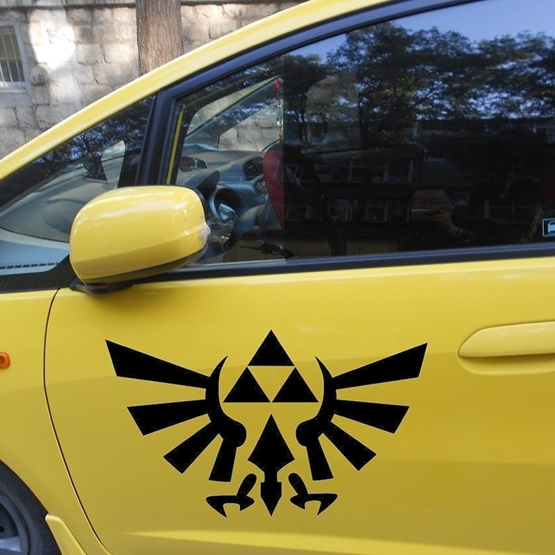 """Pegatinas para carro y coche""""Zelda Triforce"""""""