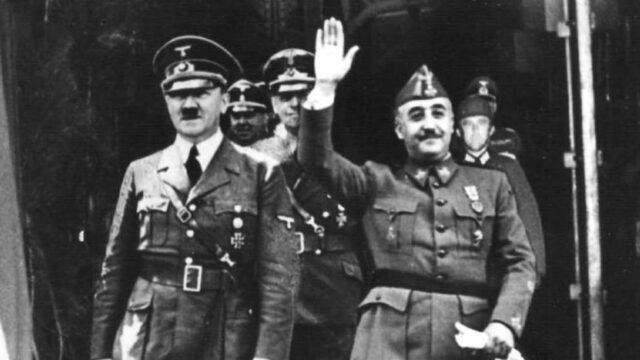 Muerte de Franco y su relación con Hitler y Mussolini
